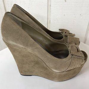 "Steve Madden ""P-Farra"" suede platform shoes sz 8"